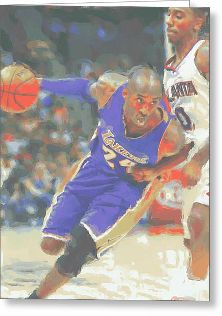 Los Angeles Lakers Kobe Bryant Greeting Card