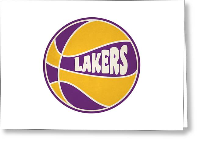 Los Angeles Lakers Retro Shirt Greeting Card by Joe Hamilton