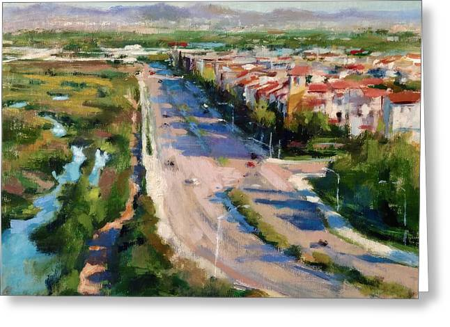Los Angeles - Playa Vista From South Bluff Trail Road Greeting Card