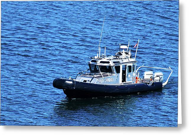 Los Angeles Port Police Greeting Card by Richard Henne