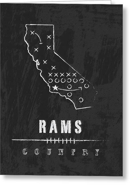 Los Angeles Rams Art - Nfl Football Wall Print Greeting Card by Damon Gray