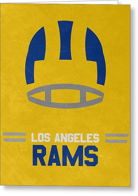 Los Angeles Rams Vintage Art Greeting Card