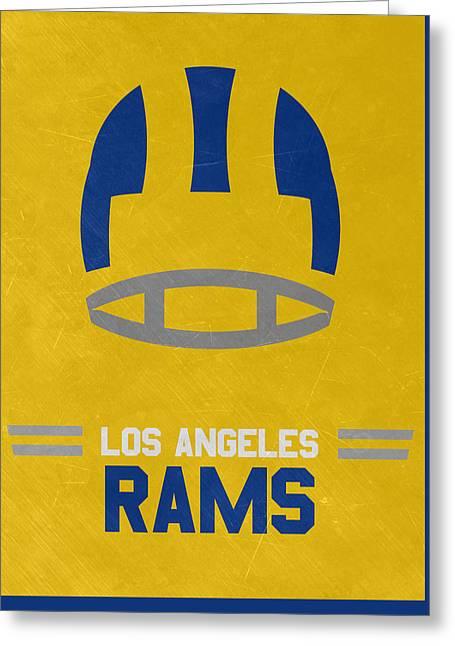 Los Angeles Rams Vintage Art Greeting Card by Joe Hamilton
