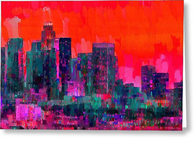Los Angeles Skyline 103 - Pa Greeting Card