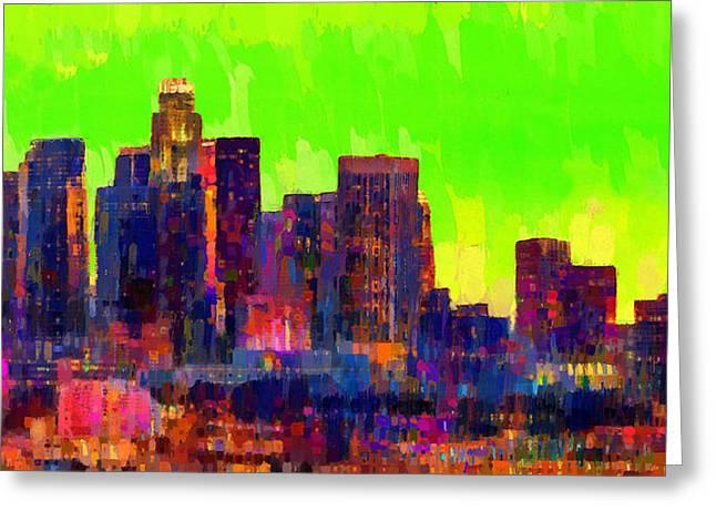 Los Angeles Skyline 107 - Da Greeting Card