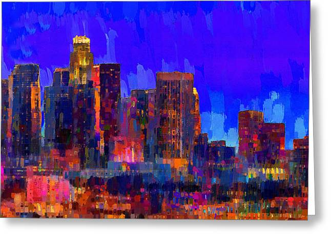 Los Angeles Skyline 109 - Pa Greeting Card