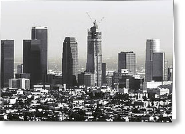 Los Angeles Skyline Greeting Card by Daniel Hagerman