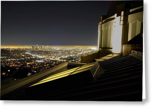 Los Angeles Skyline From The Griffith Observatory Greeting Card