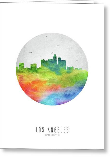 Los Angeles Skyline Uscala20 Greeting Card