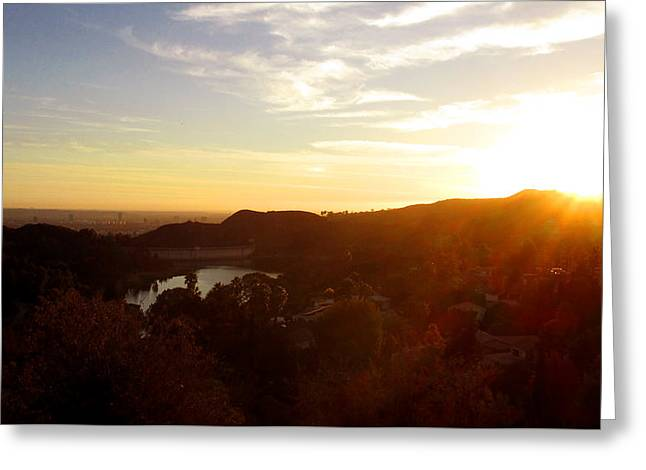 Los Angeles Sunset Greeting Card