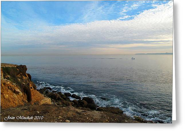 Greeting Card featuring the photograph Los Angeles Sunset by Joan  Minchak