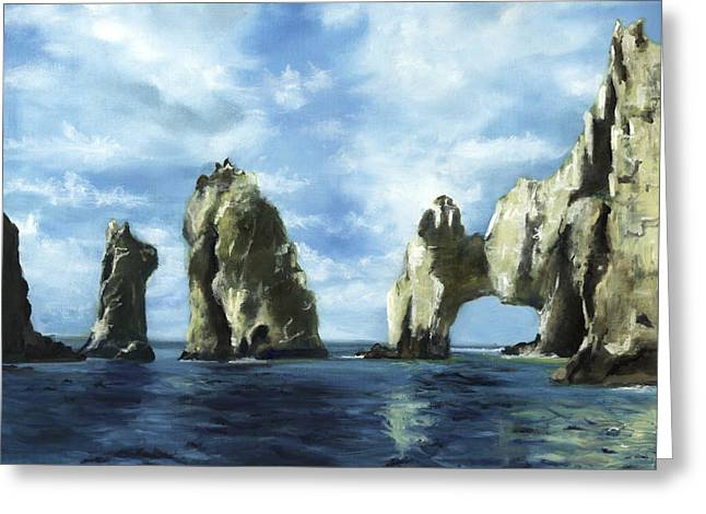 Sea Of Cortez Greeting Cards - Los Arcos Greeting Card by Lisa Reinhardt