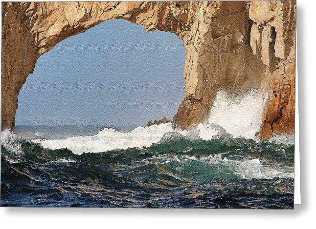 Los Arcos Watercolor Greeting Card by LeeAnn White