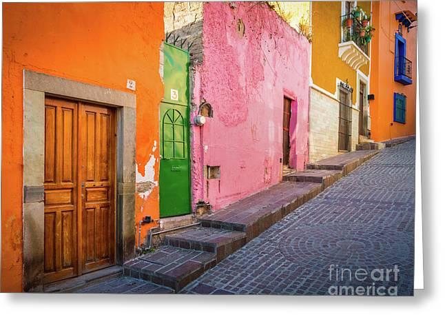 Los Colores De Guanajuato Greeting Card by Inge Johnsson