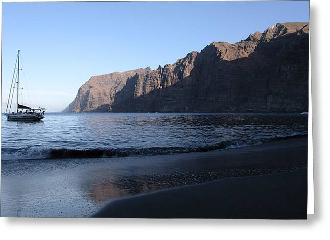 Los Gigantes Yacht Greeting Card by Phil Crean