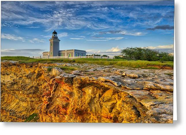 Los Morillos Lighthouse - Los Morillos - Cabo Rojo - Puerto Rico Greeting Card by Photography  By Sai