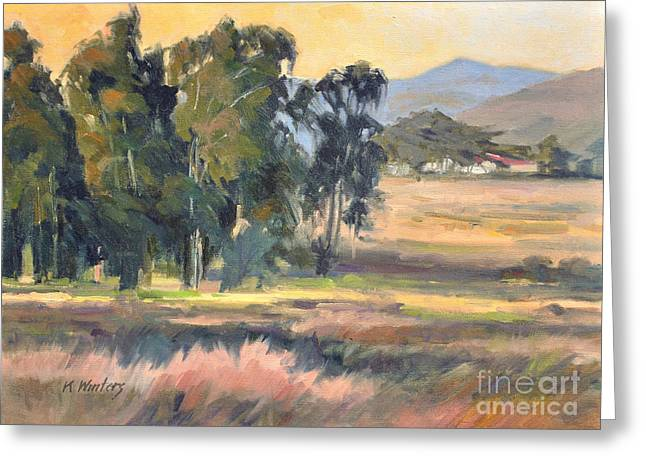Los Osos Valley - For The Love Of The Land - California Landscape Painting Greeting Card by Karen Winters