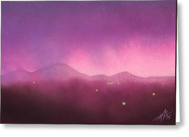 Los Penasquitos Canyon With Black Mountain IIi Greeting Card by Robin Street-Morris