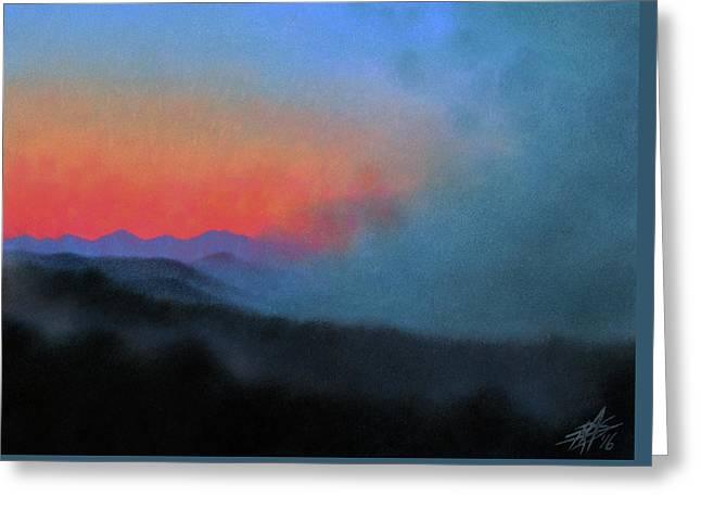 Los Penasquitos Canyon Xiii--coastal Fog At Dawn Greeting Card by Robin Street-Morris