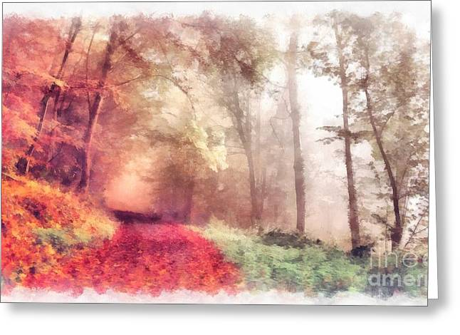 Lose Yourself Greeting Card by Edward Fielding