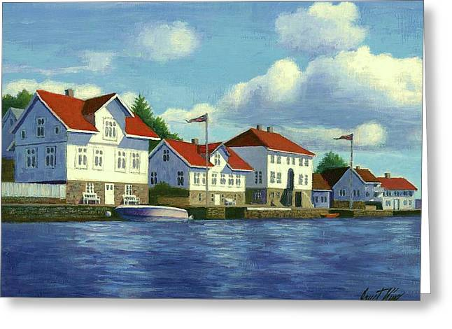 Loshavn Village Norway Greeting Card