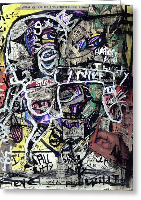 Endorsement Mixed Media Greeting Cards - Losing Face Value Greeting Card by Robert Wolverton Jr