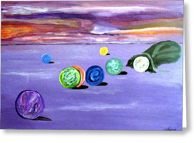 Losing My Marbles Greeting Card by  Laurie Homan