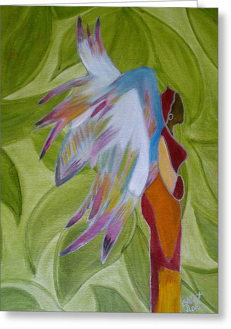 Lost Angel Greeting Card by Elizabeth Ribet