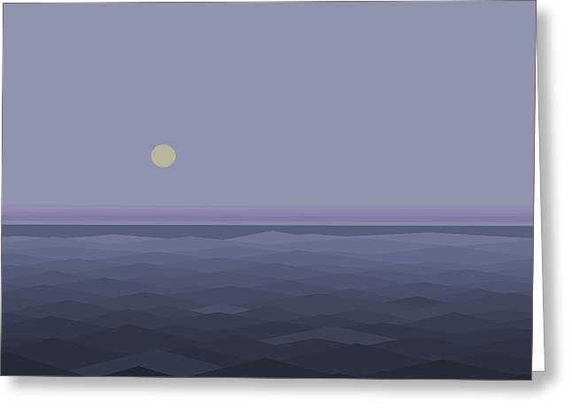 Greeting Card featuring the digital art Lost At Sea - Square by Val Arie