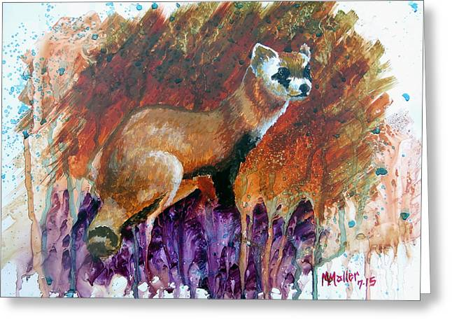 Lost Black-footed Ferret Greeting Card