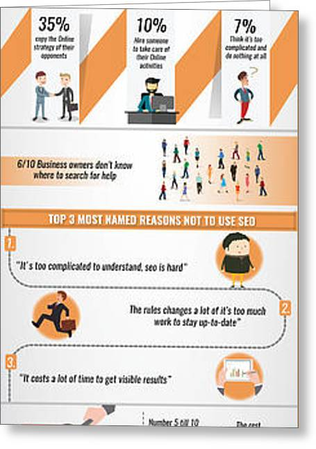 Lost Businesses In An Online World Infographic Greeting Card by Online Worldseo