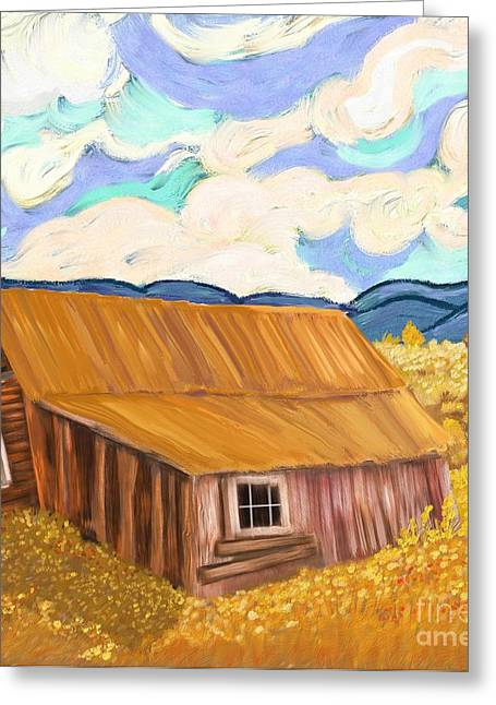 Lost Cabin In The Mountains Greeting Card