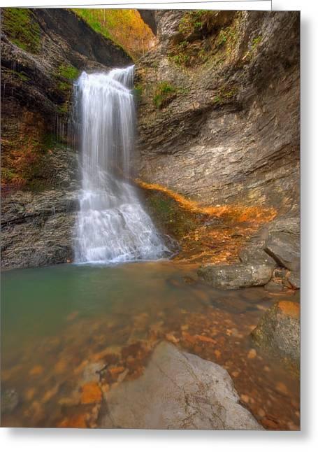 Lost Falls Greeting Card by Ryan Heffron