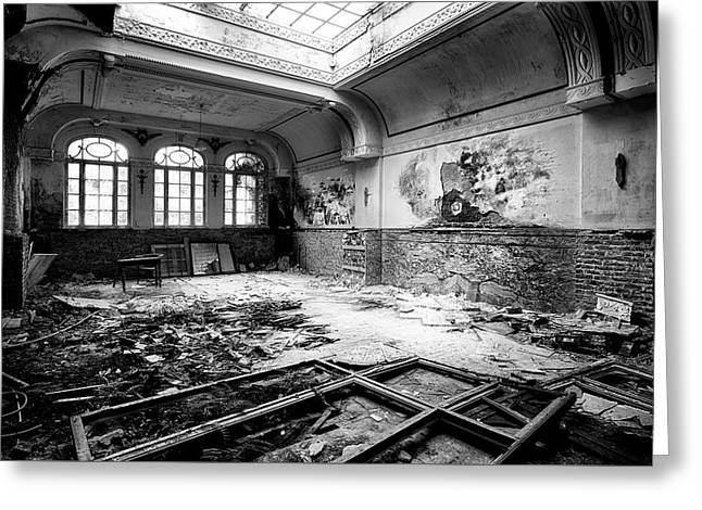 Lost Glory - Urban Exploration Abandoned Building Greeting Card