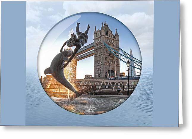 Lost In A Daydream - Floating On The Thames Greeting Card by Gill Billington