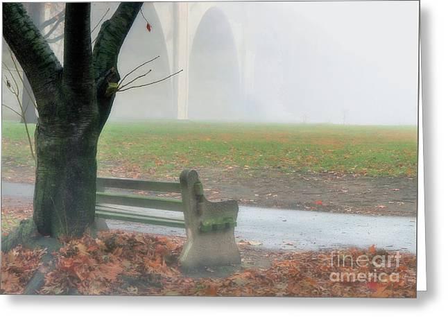Lost In A Fog Greeting Card