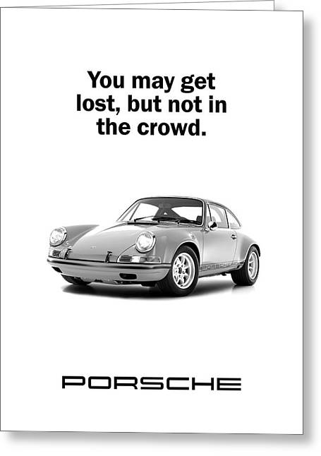 Lost In A Porsche Greeting Card by Mark Rogan