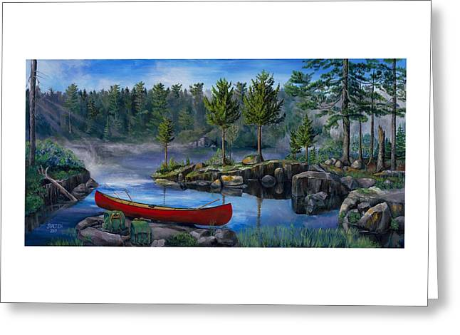 Lost In The Boundary Waters Greeting Card