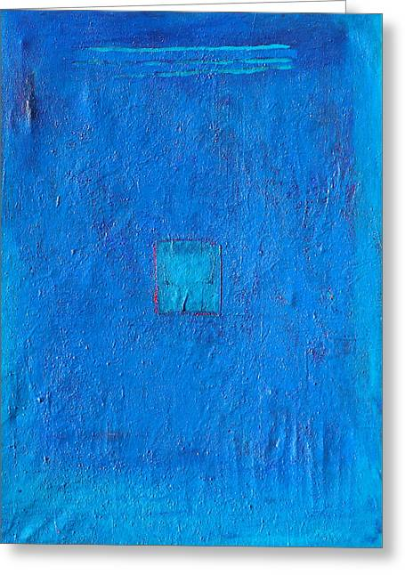 Lost In The Blue Greeting Card by Habib Ayat