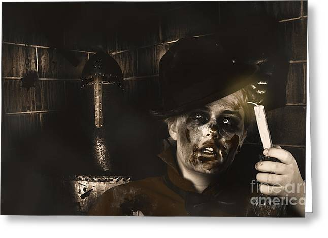 Lost In The Dark. Death Becomes You Greeting Card by Jorgo Photography - Wall Art Gallery