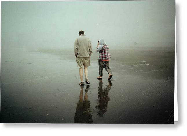 Greeting Card featuring the photograph Lost In The Fog by Sergey  Nassyrov