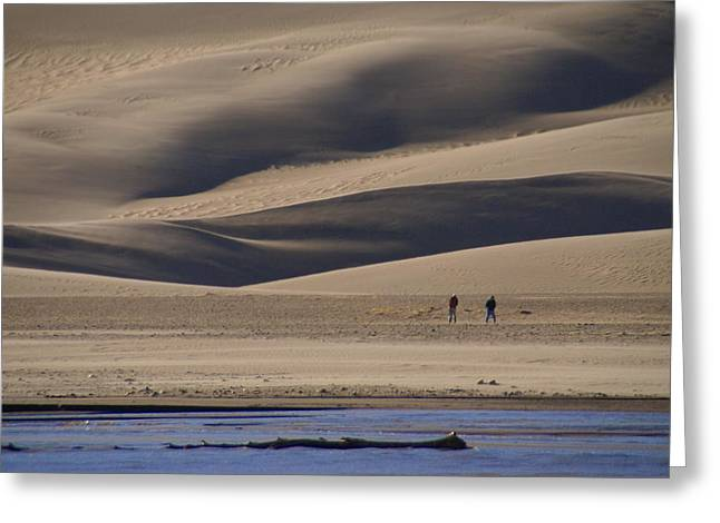 Lost In The Great Sand Dunes Greeting Card