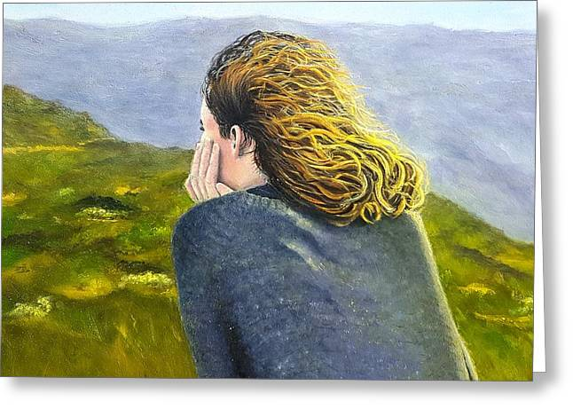 Lost In Thought Greeting Card by Karyn Robinson