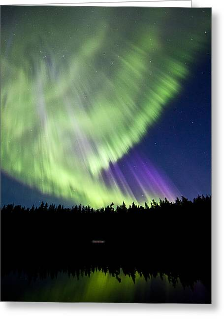 Lost Lake Aurora Greeting Card by Brandon Broderick