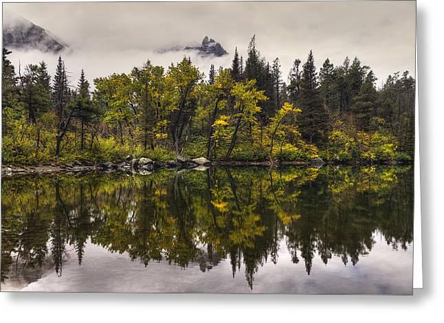 Lost Lake In Glacier Greeting Card by Mark Kiver