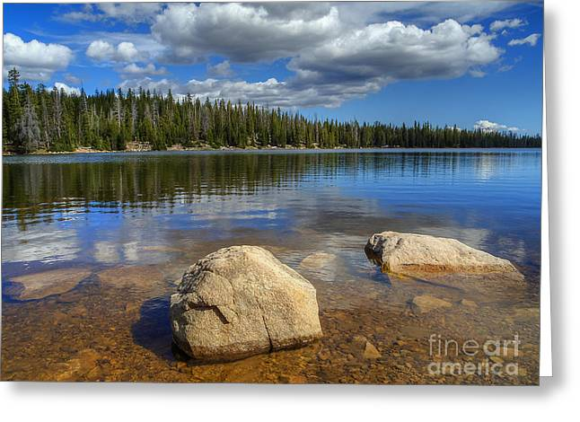 Lost Lake Greeting Card by Spencer Baugh
