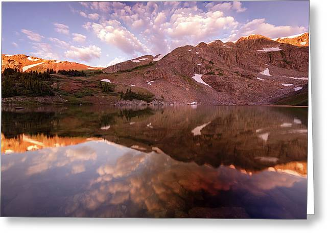 Lost Lake Sunrise Greeting Card by Jennifer Grover
