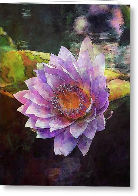 Lost Lavender Lotus Blossom 4725 Ldp_2 Greeting Card