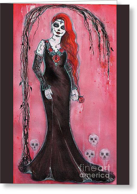 Lost Loves Day Of The Dead Greeting Card