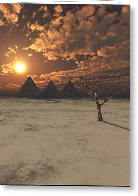 Lost Pyramids Greeting Card